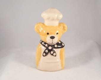 Vintage Pie Bird Teddy Bear Chef Made in England