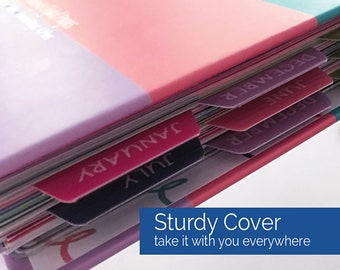 2017-18 Reminder Binder® Planner, weekly/monthly/yearly views, 360+ stickers, tabs, lists, contacts, keepsake box-SHIPS NOW!