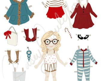 Cauliflower Crew Paper Doll: Peppermint