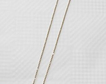 Vintage Signed Gloria Vanderbilt Gold Filled Fine Jewelry Crystal Dainty Round Pendant Necklace