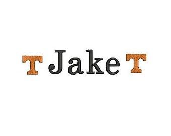 T Tennessee Vol Vols Mini Design File for Embroidery Machine Monogram Applique Instant Download Football