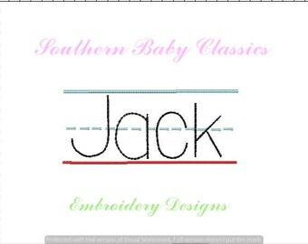 Lined Writing Paper Frame Back to School Design File for Embroidery Machine Monogram Instant Download