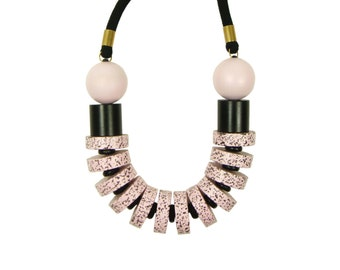 Super Chunky Memphis Speckled Fleckled Pink Necklace