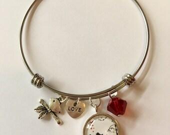 Love Birds bangle bracelet