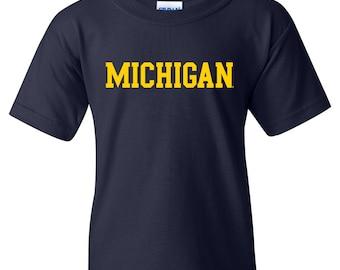 Michigan Wolverines Basic Block YOUTH T-Shirt
