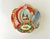 2 Vintage Christmas Ornaments, Geo Ornament, Christmas Card Ornament