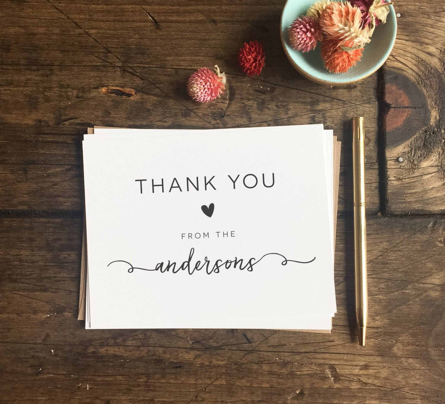 Wedding Gift Thank You Cards: Wedding Thank You Cards. Custom Wedding Cards. Wedding Gift
