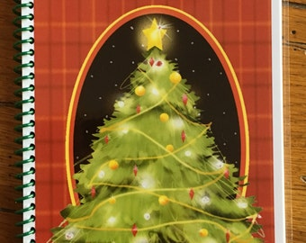 Christmas Card Address Book Personalized Gift Tree Cover Design