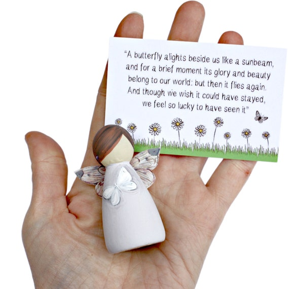 White Butterfly Fairies Miscarriage gift Baby loss