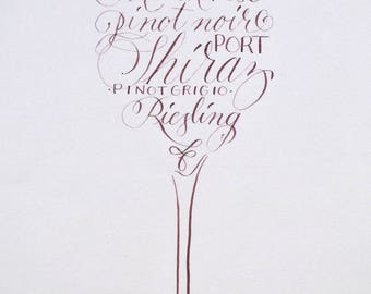 For the love of Wine Print