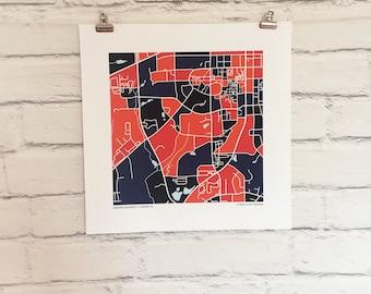 Auburn University Map Print