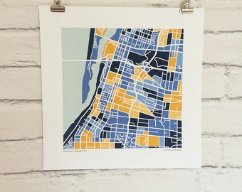 Downtown Memphis Map Print