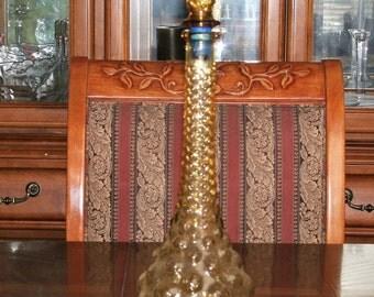 1960's Amber Bubble Genie  Art Glass Vase Mid-Century Modern MURANO EAMES ERA