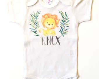 Newborn Boys Take Home Outfit, Personalized Baby Boy Outfit, Safari Animals Nursery, Jungle theme baby shower, Boys Baby Shower Gift