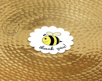 25+ Baby Bee Party Favor Stickers, Bee Day, Bee Thank You Labels, Bee Birthday, Baby Shower, Bumble Bee Honey Bee Baby Shower Sticker