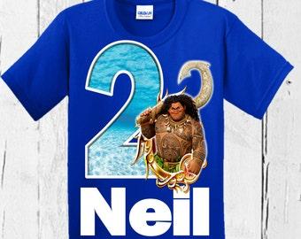 Moana Boy's Birthday Shirt - Maui Birthday Shirt