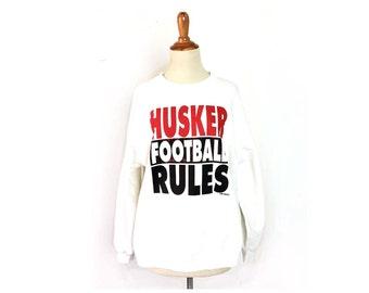 Husker sweatshirt, 1990s vintage Nebraska sweatshirt, cornhuskers, Nebraska football, 90s