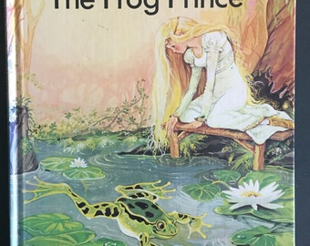 1981- The Frog Prince Hardcover Fairy Tale Book- Large Type for First Readers