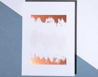 Brush Stroke - Letterpress Art Print