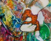 """Contemporary, Acrylic Painting, Whimsical Painting of children, """"Children Are A Blessing"""""""