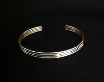 Sterling Silver Wire Cuff Bracelet for Women