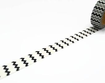 Black Zig Zag Washi Tape - Chevron Deco Masking Tape