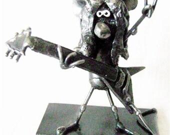 Heavy Metal Mouse Guitar Hero Sculpture