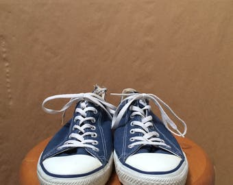 Vintage Chuck Taylor Converse Low Tops All-Star Made in USA Navy Blue Size 12