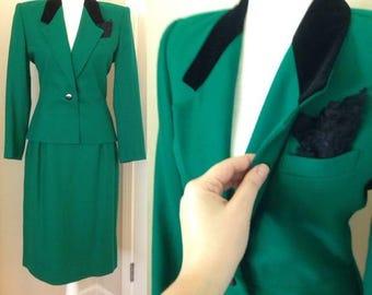 Vintage Emerald Green Suit