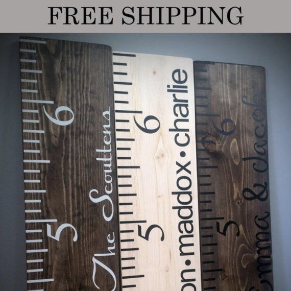 Growth Chart // Growth Ruler //Personalized Growth Chart // Personalized Growth Ruler // FREE SHIPPING!