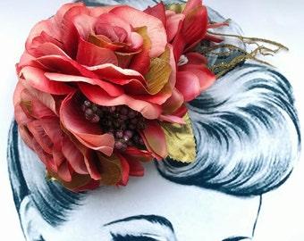 Autumn Skies Pin Up Hair Flower Vintage Autumn
