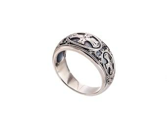 mens ring silver, Gerochristo mens ring in sterling silver