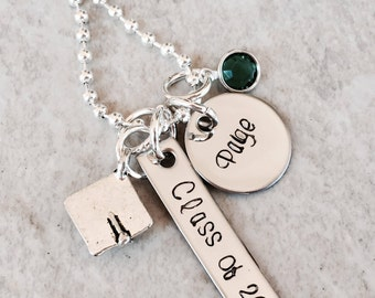 SALE!!!  Personalized graduation necklace high school college university class of 2017 class of 2018 graduation gift personalized graduation