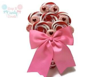 Valentines Lollipop Bouquet, Candy Bouquet, Valentines, Lollipop Bouquet, Wedding, Customizable, Candy, Lollipop, Bouquet, Gift