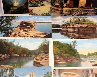 Lot 10 Vintage Color Travel Postcards  Linen