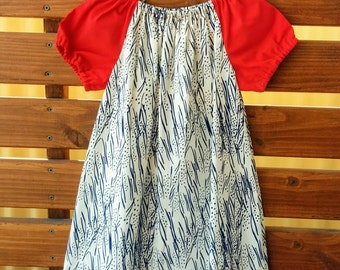 Girls Peasant Style Dress. Meadow Hyacinths . Size 5.