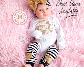 BRAND SPARKLING NEW®, Newborn Girl Coming Home Outfit, baby coming home outfit, coming home outfit girl, baby girl outfit coming home outfit