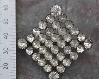 Victorian Diamante Brooch