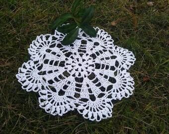 "Small crochet doily, Coaster White crochet, coasters 7"", small lace doily, handmade doilies, lace tablecloths, handmade crochet Wedding gift"