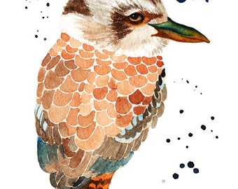 Kookaburra Print, Archival Print from a Watercolour Painting