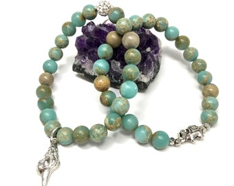Aqua Terra Jasper Stretch Bracelet Set