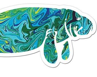 The Manatee Art Sticker
