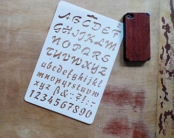 Journal Stencil, Planner Stencil, Bullet Journal Stencil, Alphabet Stencil, Number Stencil, Script Stencil - Cursive