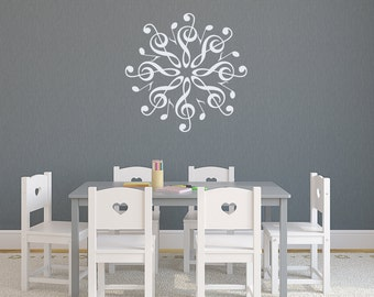 Wall Decals Musical Decal Treble Clef Notes Vinyl Sticker Bedroom Nursery Home Decor aa103