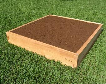 4ft x 4ft x 8in Cedar Raised Garden Bed Planter Box | Modular Garden Kit