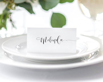 Wedding Place Cards - Seating Cards - Wedding Name Cards - Custom Printable - Tent Place Cards