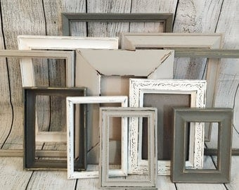 Rustic Wall Decor, Farmhouse Wall Decor, Distressed Frames, Farmhouse Distressed Frames, Nursery Decor Sets, Picture Frame Set, Frames
