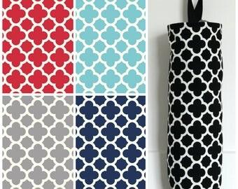 Quatrefoil Grocery Bag Holder Made with Riley Blake Home Decor Fabric