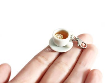 Teacup Charm,Teacup And Saucer,Tea Jewelry,Stainless Steel Charms,Tea Charm,Add On Charm,Tea Gifts,Gift For Tealovers,Cute Charms,Teacup