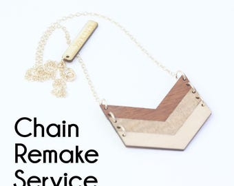 CHAIN REMAKE SERVICE - For Necklace Length Only
